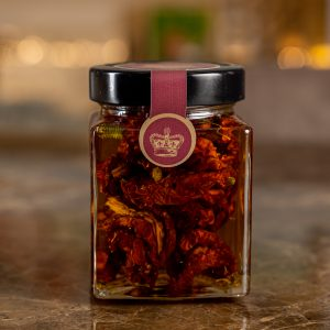 Sun-dried tomatoes with mountain herbs