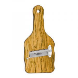 Olive wood truffle slicer wave blade