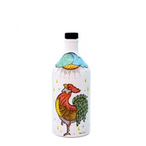 The Rooster ceramic jar
