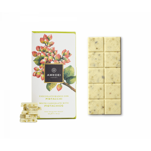 White chocolate with pistachios