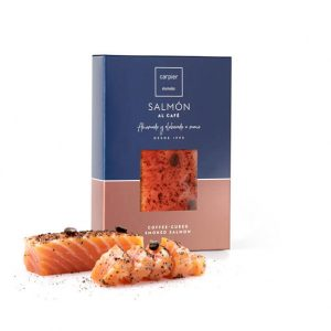 Smoked salmon fillet with coffee