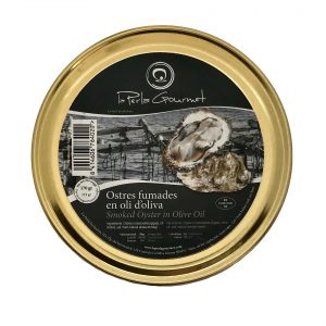 Smoked oysters in olive oil