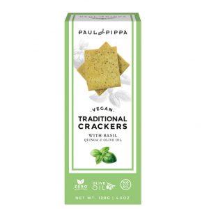 Vegan Crackers with Basil
