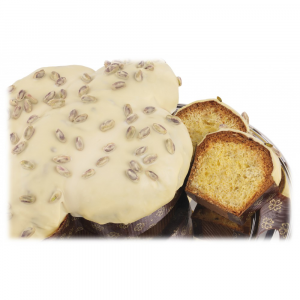 Artisan Colomba  plain inside with white chocolate and Sicilian pistachio