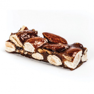 Crunchy nougat pieces with almonds